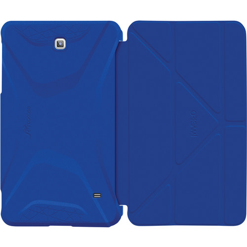 rooCASE Origami 3D Slim Shell Folio Case Cover for Samsung Galaxy Tab 4 7.0 (Palatinate Blue / Aruba Blue)