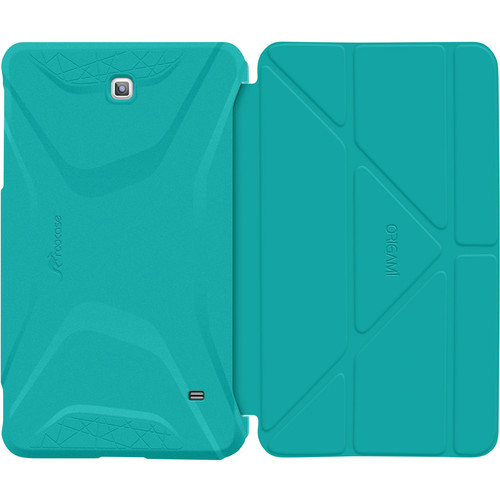 rooCASE Origami 3D Slim Shell Folio Case Cover for Samsung Galaxy Tab 4 7.0 (Turquoise Blue / Mint Candy)
