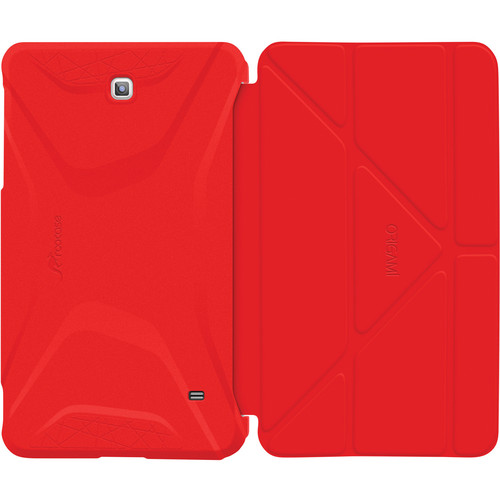 rooCASE Origami 3D Slim Shell Folio Case Cover for Samsung Galaxy Tab 4 7.0 (Red / Tangerine)