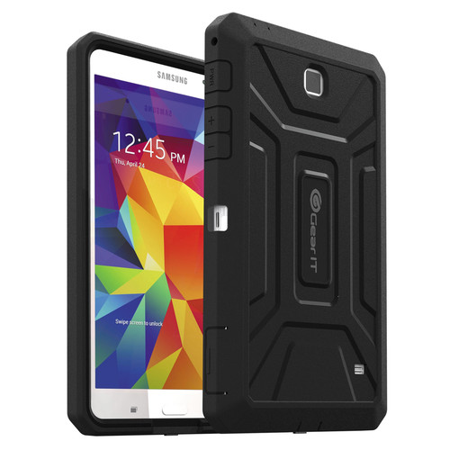 "GearIt SHOXX TPU/PC Hybrid Tablet Case for Samsung Galaxy Tab 4 7"" (Black)"