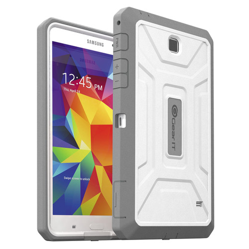 "GearIt SHOXX TPU/PC Hybrid Tablet Case for Samsung Galaxy Tab 4 7"" (White/Grey)"