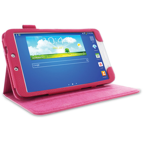 "rooCASE Dual View Folio Case Cover for Samsung Galaxy Tab 3 8.0"" (Magenta)"