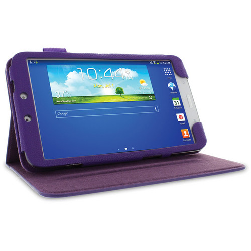 """rooCASE Dual View Folio Case Cover for Samsung Galaxy Tab 3 8.0"""" (Purple)"""