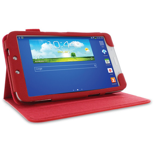 "rooCASE Dual View Folio Case Cover for Samsung Galaxy Tab 3 8.0"" (Red)"
