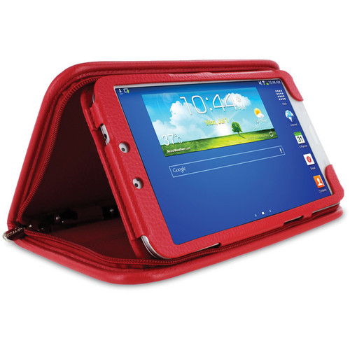 "rooCASE Executive Portfolio Case for Samsung Galaxy Tab 3 8.0"" (Red)"
