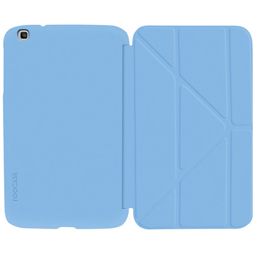"""rooCASE Origami SlimShell Case for 8"""" Galaxy Tab 3 Tablet (Blue)"""