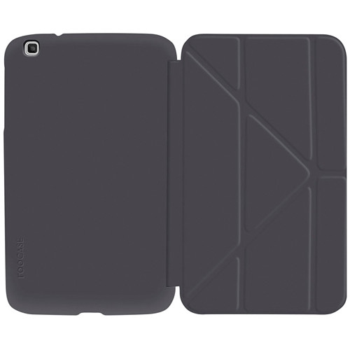 """rooCASE Origami SlimShell Case for 8"""" Galaxy Tab 3 Tablet (Gray)"""