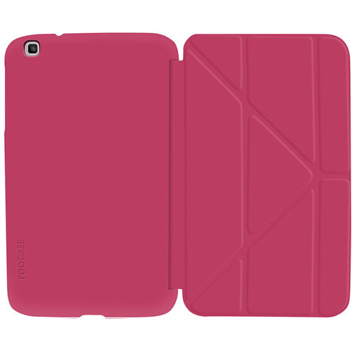 "rooCASE Origami SlimShell Case for 8"" Galaxy Tab 3 (Magenta)"