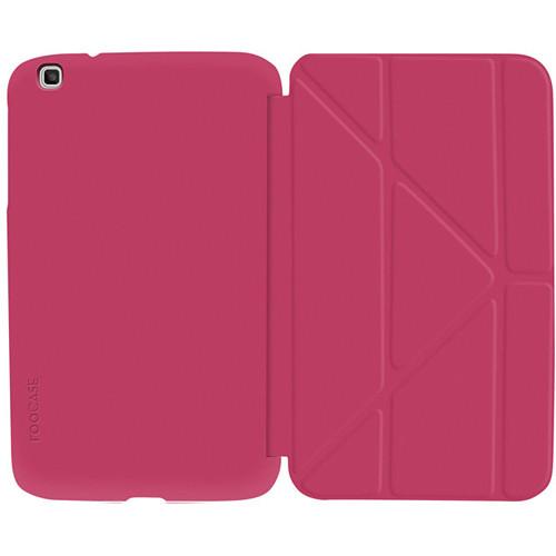 "rooCASE Origami SlimShell Case for 8"" Galaxy Tab 3 Tablet (Magenta)"