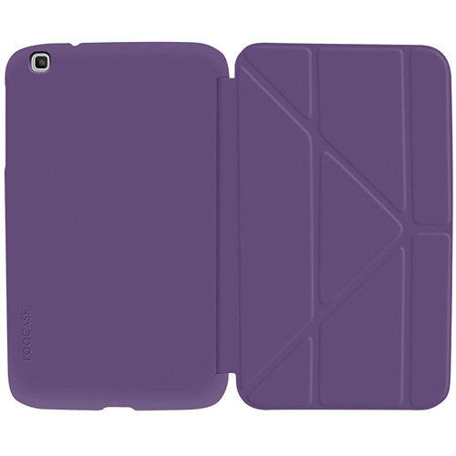 """rooCASE Origami SlimShell Case for 8"""" Galaxy Tab 3 Tablet (Purple)"""