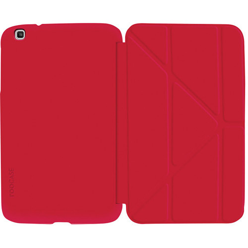 """rooCASE Origami SlimShell Case for 8"""" Galaxy Tab 3 Tablet (Red)"""
