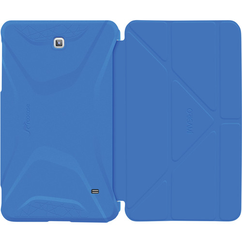 rooCASE Origami 3D Slim Shell Folio Case Cover for Galaxy Tab 4 8.0 (Pacific Blue / Barbados Blue)