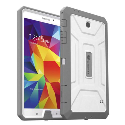 "GearIt SHOXX TPU/PC Hybrid Tablet Case for Samsung Galaxy Tab 4 8"" (White/Gray)"