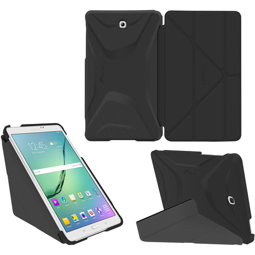 rooCASE Origami 3D Case for Samsung Galaxy Tab S2 9.7 (Granite Black / Gunmetal Gray)