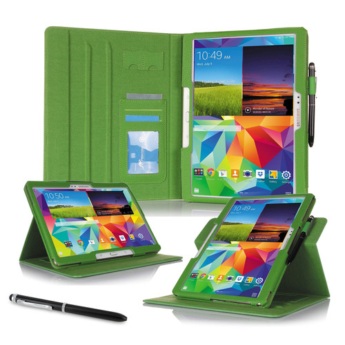 """rooCASE Dual View Folio Case Cover for Samsung Galaxy Tab S 10.5"""" (Green)"""