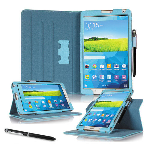 "rooCASE Dual View Folio Case Cover for Samsung Galaxy Tab S 8.4"" (Blue)"