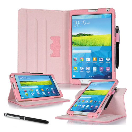 "rooCASE Dual View Folio Case Cover for Samsung Galaxy Tab S 8.4"" (Pink)"