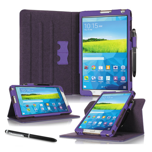 "rooCASE Dual View Folio Case Cover for Samsung Galaxy Tab S 8.4"" (Purple)"