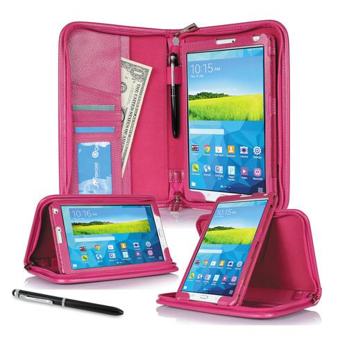 "rooCASE Executive Portfolio Case for Samsung Galaxy Tab S 8.4"" (Magenta)"
