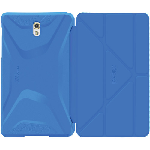 rooCASE Origami 3D Slim Shell Folio Case Cover for Samsung Galaxy Tab S 8.4 (Pacific Blue / Barbados Blue)