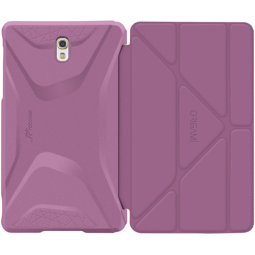 rooCASE Origami 3D Slim Shell Folio Case Cover for Samsung Galaxy Tab S 8.4 (Radiant Orchid / Mint Candy)