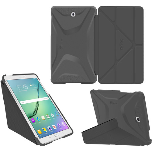 rooCASE Origami 3D Case for Samsung Galaxy Tab S2 8.0 (Space Gray / Gunmetal Gray)