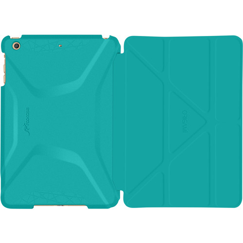 rooCASE Origami 3D Case for Samsung Galaxy Tab S2 9.7 (Turquoise Blue / Gunmetal Gray)