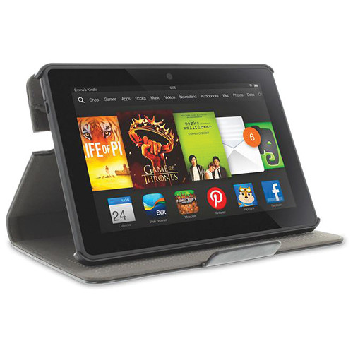 "rooCASE Dual View 360 Case for Kindle Fire HDX 7"" Tablet (Black)"