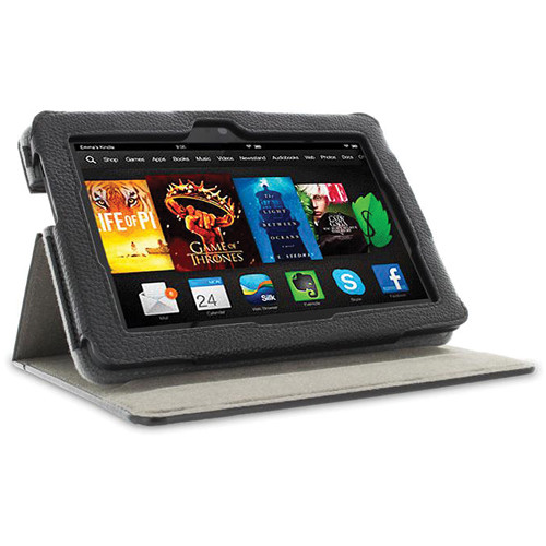 "rooCASE Dual View Folio Case Cover for Amazon Kindle Fire HDX 7"" (Black)"