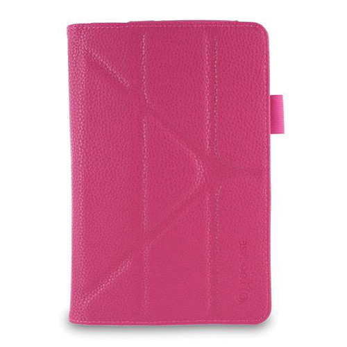 rooCASE Origami Dual-View Vegan Leather Case for Asus MeMO Pad 7 (Magenta)