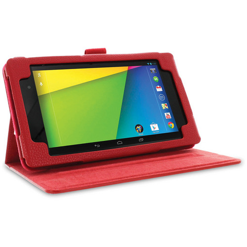 rooCASE Dual View Folio Case Cover for Google Nexus 7 FHD (Red)