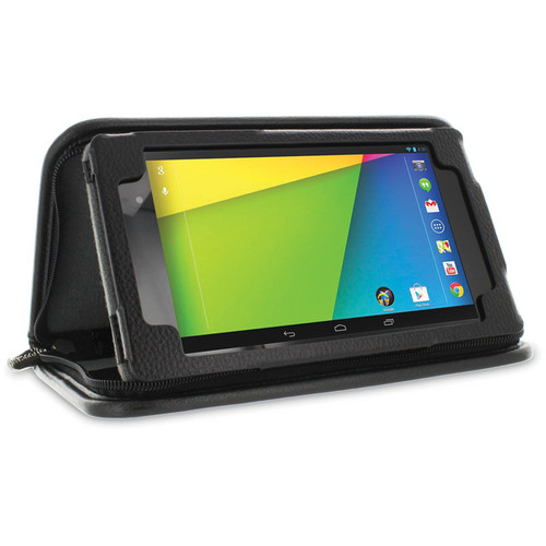 rooCASE Executive Portfolio Leather Case Cover with Stylus for Google Nexus 7 FHD (Black)