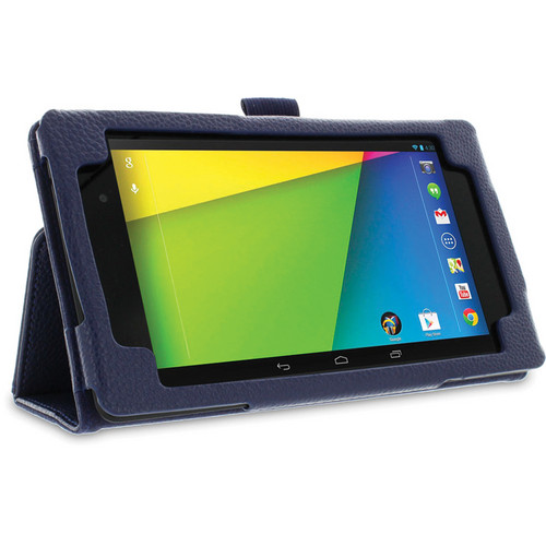 rooCASE Dual Station Folio Case Cover with Stylus for Nexus 7 FHD 2nd Generation (Navy)