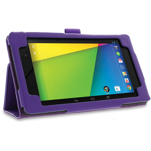rooCASE Dual Station Folio Case Cover with Stylus for Nexus 7 FHD 2nd Generation (Purple)