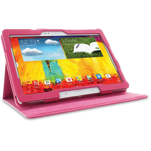 "rooCASE Dual View Folio Case Cover for Samsung Galaxy Note 10.1"" (2014 Ed.) (Magenta)"