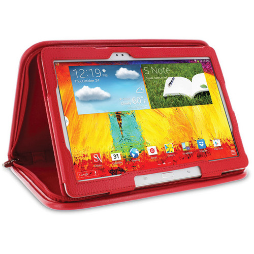"rooCASE Executive Portfolio Case for Samsung Galaxy Note 10.1"" (2014 Edition) (Red)"