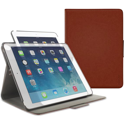 rooCASE Orb Folio Case for Apple iPad Air 2 (Brown)