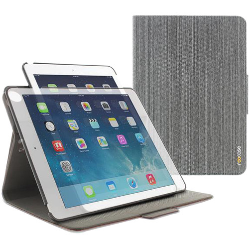 rooCASE Orb Folio Case for Apple iPad Air 2 (Canvas Gray)