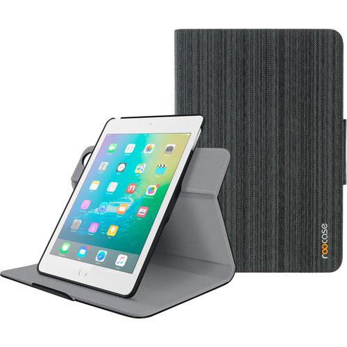 rooCASE Orb Folio Case for Apple iPad mini 4 (Canvas Black)