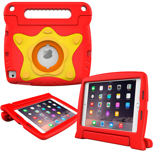 rooCASE Orb Starglow Kids Case for iPad mini 4 (2015) (Red)