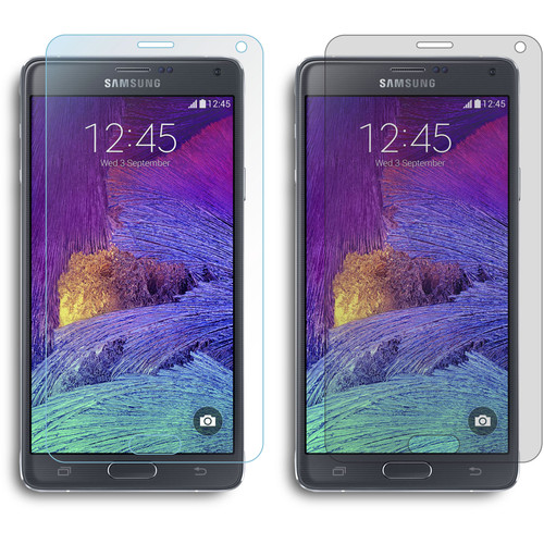rooCASE Two Anti-Glare and Two HD Clear Screen Protectors for Samsung Galaxy Note 4