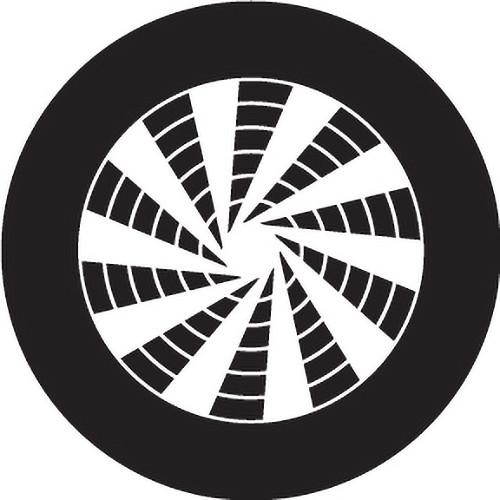 Rosco Pinwheel Crop Circle B/W Rotating Glass Gobo (Custom Size)