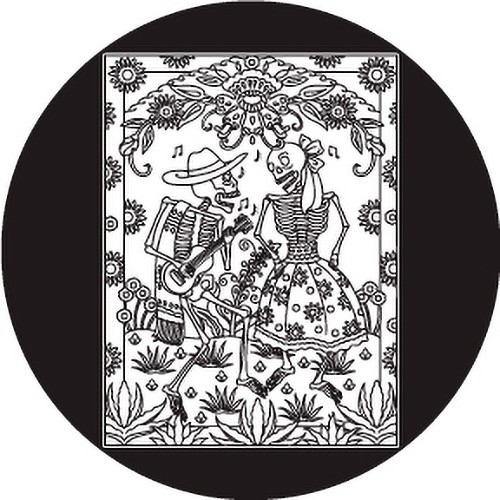 Rosco Day of the Dead Glass Gobo #82821 Dancing Couple (Size A)
