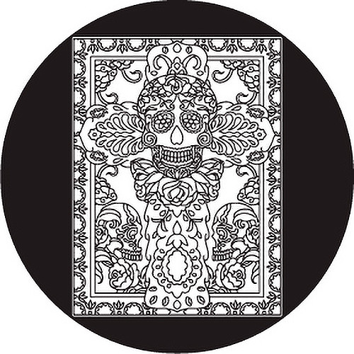 Rosco Day of the Dead Glass Gobo #82823 Madame (Size A)