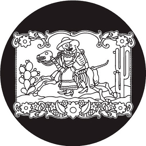 Rosco Day of the Dead Glass Gobo #82824 Horse & Rider (Size A)