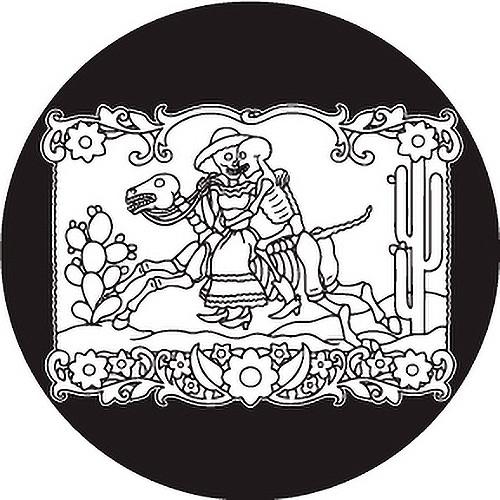 Rosco Day of the Dead Glass Gobo #82824 Horse & Rider (Custom Size)