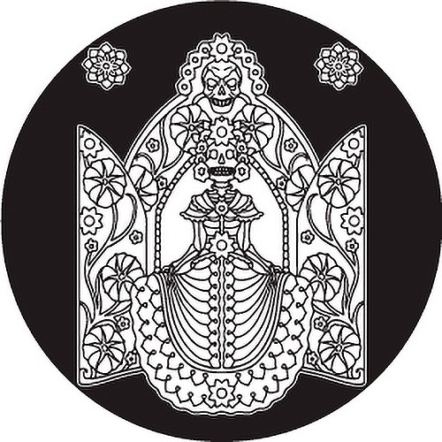 Rosco Standard Glass Gobo #82827, Day of the Dead Tribal Woman (Size B)