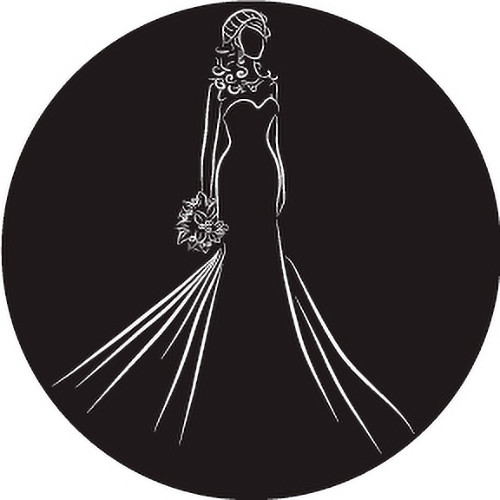 Rosco Bride Silhouette with Bouquet B/W Wedding Glass Gobo (A Size)