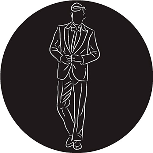 Rosco Groom in Suit B/W Wedding Glass Gobo (B Size)