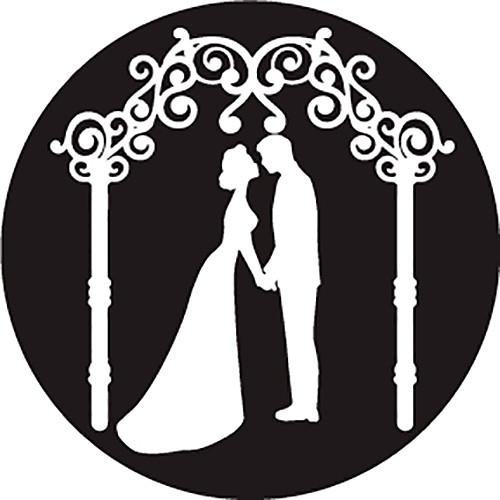 Rosco Kissing Under Trellis B/W Wedding Glass Gobo (B Size)